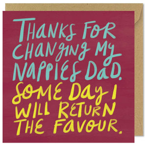 square father's day greeting card