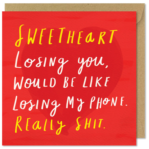 red square valentines day card