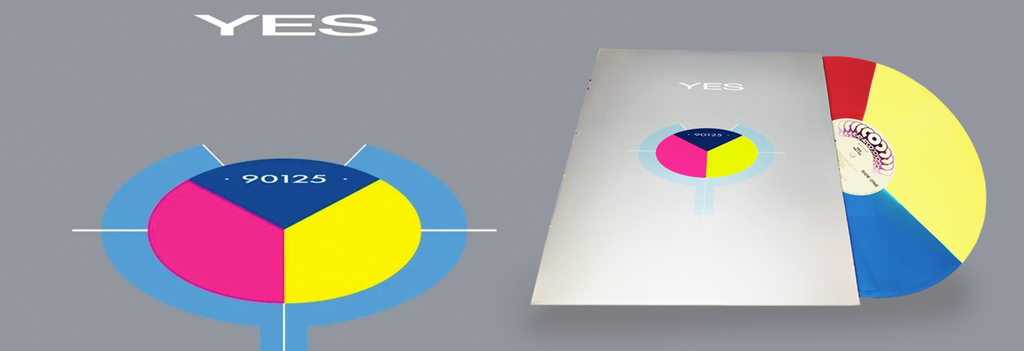August Classic Rock Record of the Month - Yes - 90125 (Blue/Pink/Yellow Vinyl)