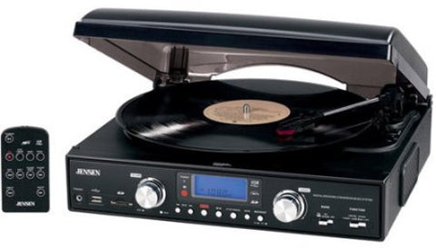 Jensen JTA-460 Turntable (USB, AM/FM Receiver)