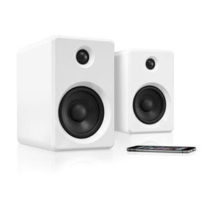 Innovative Technology Rechargeable Bluetooth Wireless 50 watt Bookshelf Speakers - Blind Tiger Record Club