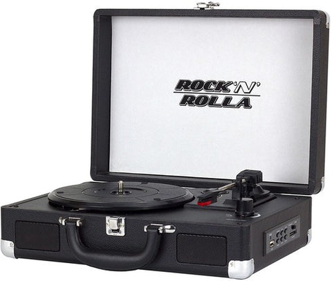 Rock 'N' Rolla Jr. Portable Record Player/Turntable Briefcase Bluetooth & USB (Color Options)