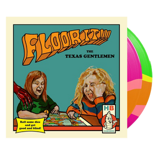 The Texas Gentlemen - Floor It!!! (Ltd. Ed. 140G Orange Green Magenta Striped 2XLP) - MEMBER EXCLUSIVE - Blind Tiger Record Club
