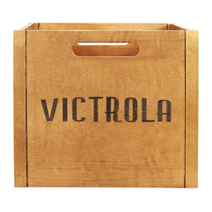 Victrola Wooden Record and Vinyl Crate - Blind Tiger Record Club