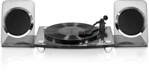 Victrola VM-100C Modern Acrylic Turntable Bluetooth Wireless 2Speed Belt Drive With 40 Watt Wireless Rechargable Speakers - Blind Tiger Record Club