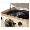 Victrola 4-in-1 Cambridge Farmhouse Modern Bluetooth Turntable with FM Radio, Farmhouse Oatmeal - Blind Tiger Record Club