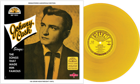 Johnny Cash - Sings The Songs That Made Him Famous (Ltd. Ed. 180G Gold Vinyl) - Blind Tiger Record Club