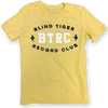 BTRC Lightning Shirt (Black/White on Yellow) - Blind Tiger Record Club