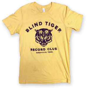 Blind Tiger Logo Shirt (Black on Yellow) - Blind Tiger Record Club