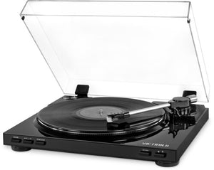 Victrola VPRO-3100-BLK Professional Series USB Turntable FullyAutomatic 2 Speed Belt Drive (Black) - Blind Tiger Record Club