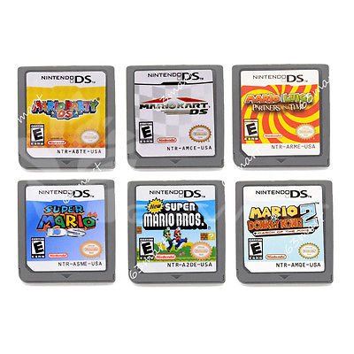 1/6PCS MARIO Game Card Child Children Gift For DS NDS DSI 3DS US Version
