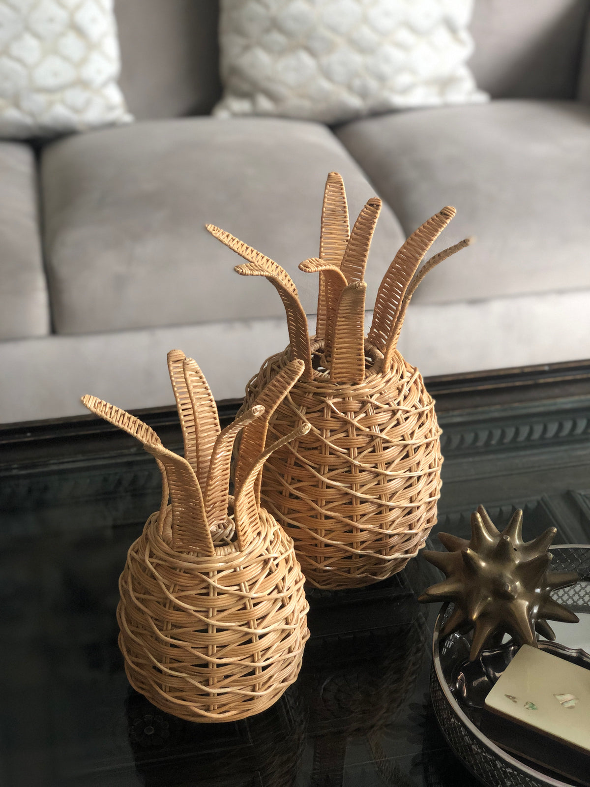 Wicker Pineapple Lantern (large) PREORDER