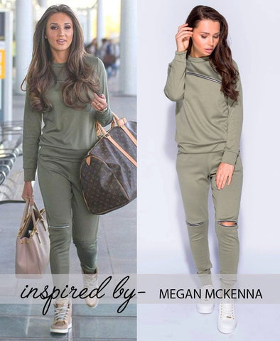Zip-Detail-Loungesuit - Inspired by 'MEGAN MCKENNA'