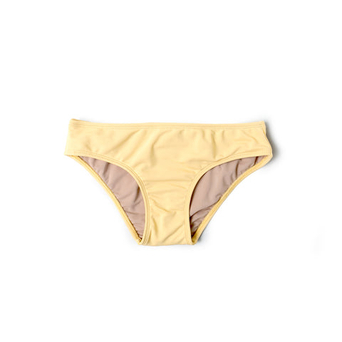 Brief Bikini Bottom (Light Yellow) - Agos Surf & Swimwear