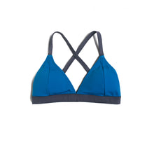 Load image into Gallery viewer, Eco Tri Sport Bikini (Blue & Dark Gray)