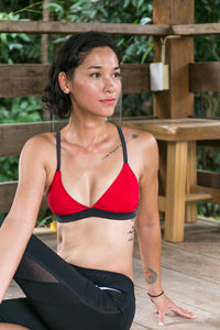 Eco Tri Sport Bikini (Red & Dark Gray)