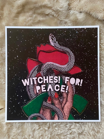 WITCHES! FOR! PEACE!
