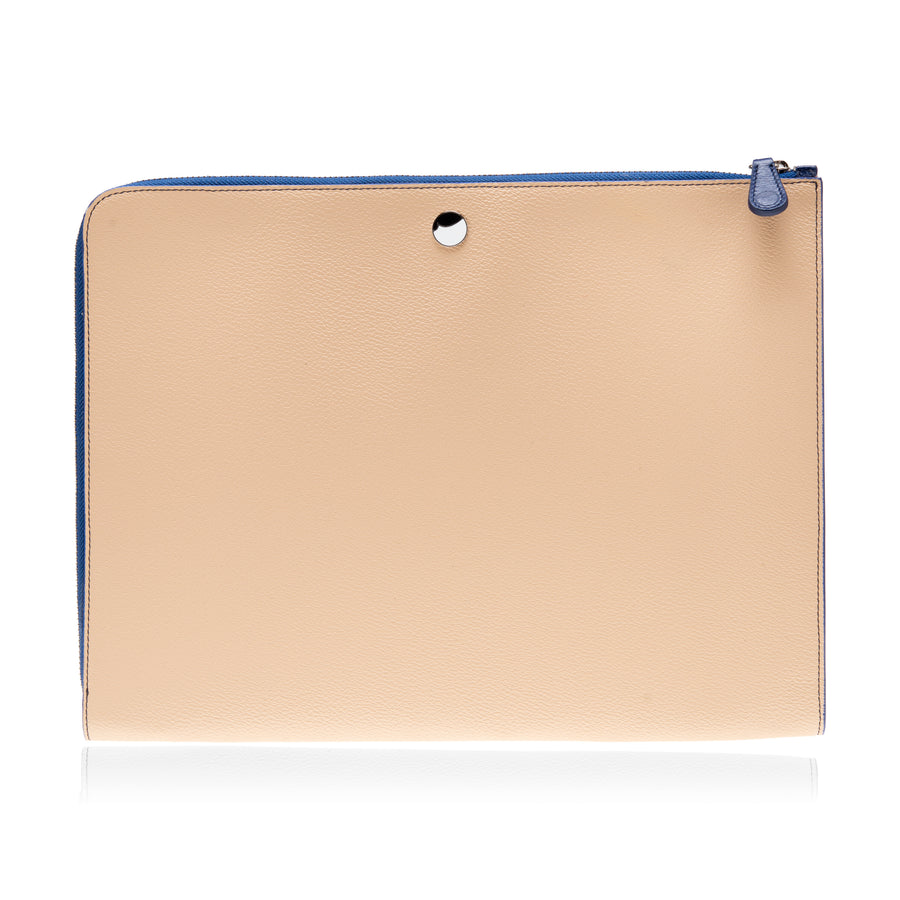 P111 THE POUCH CANVAS-BLUE - thefranceschini.com
