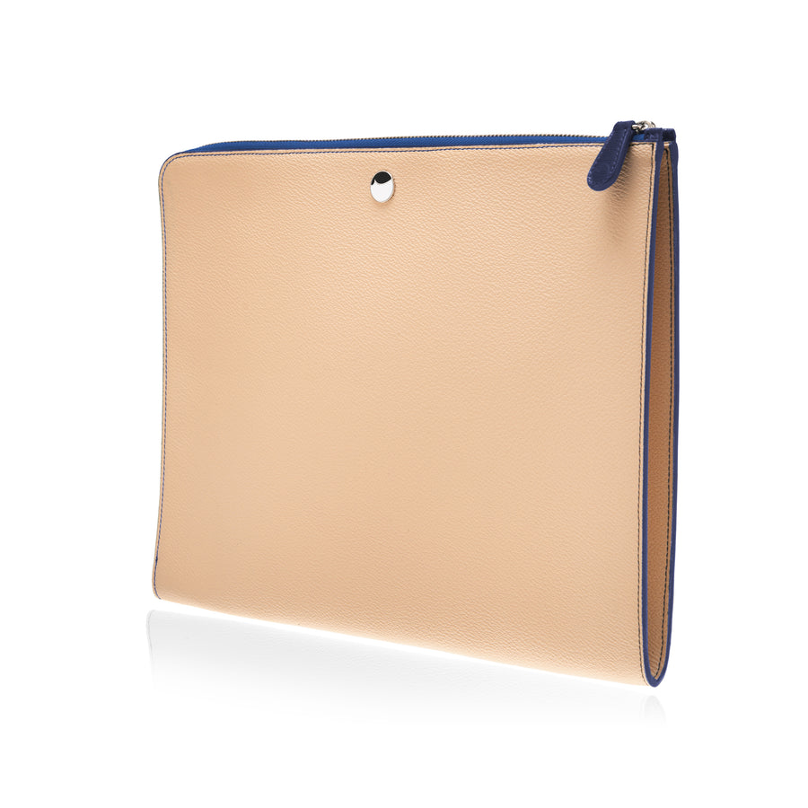 P111 THE POUCH CANVAS-BLUE