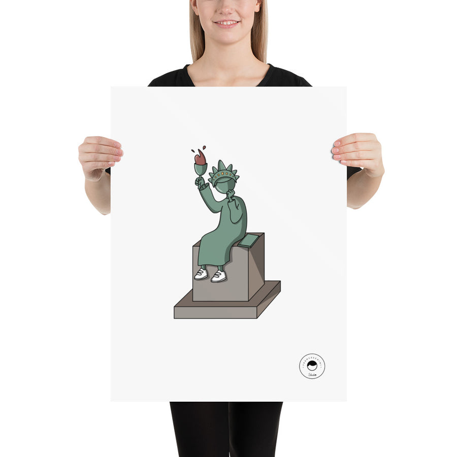 Print - statue of liberty