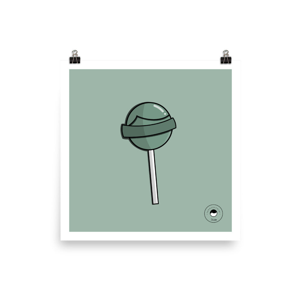 Print - Lollipop - Mint