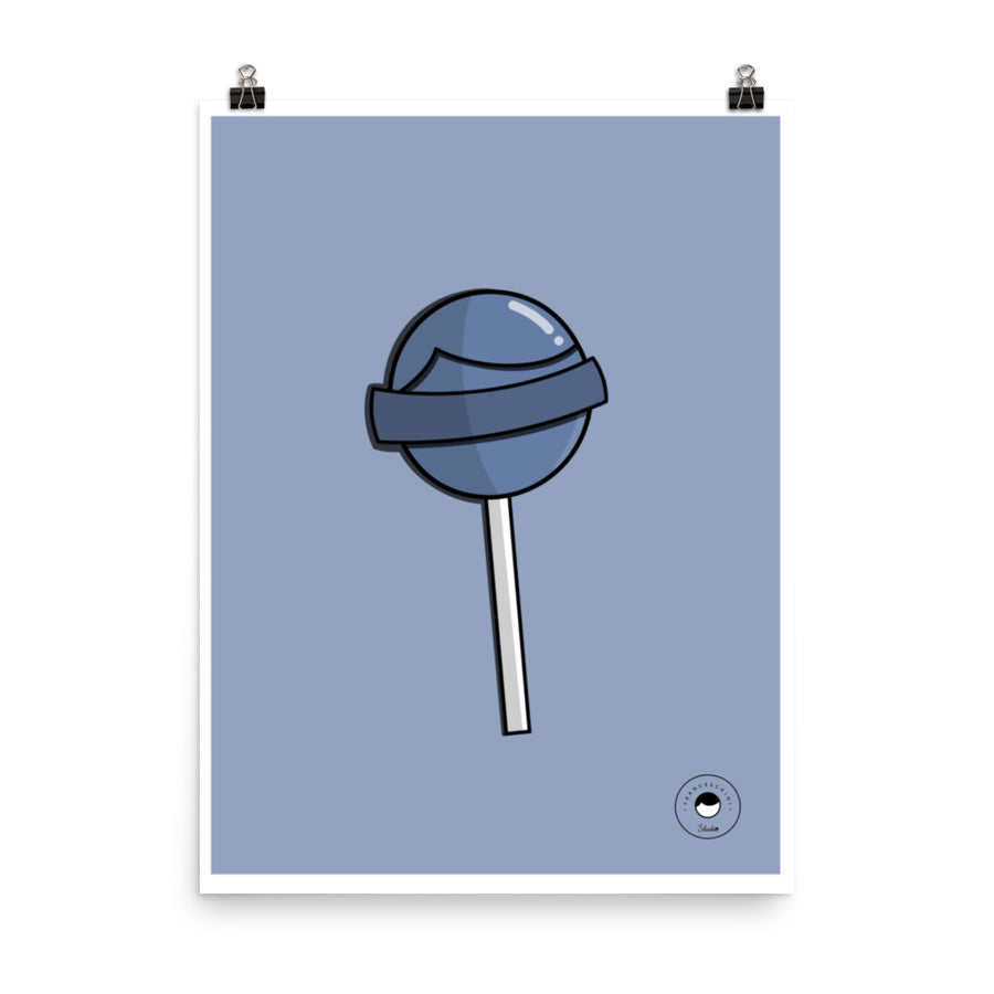 Print - Lollipop - Baby blue
