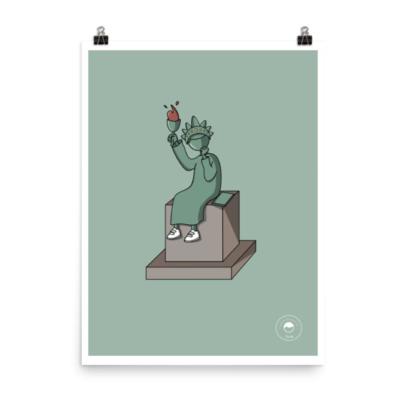 Print - statue of liberty - mint