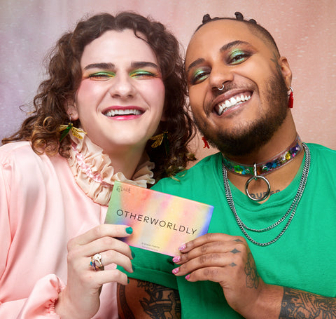 Ashley and Noah with palette