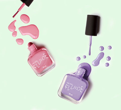Fluide nail polish in Gala Cafe and Page Three