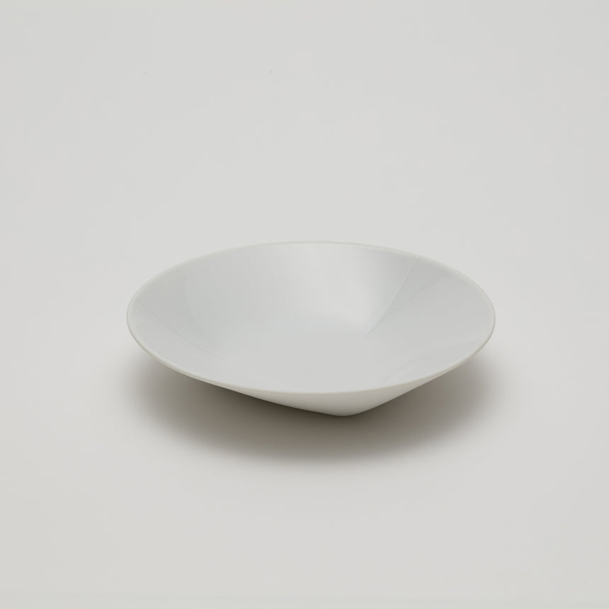 150mm diameter white porcelain bowl designed by Christian Haas for Arita 2016. Handmade in Japan. Contemporary ceramic with thin profile, low gloss interior and matte unglossed exterior.