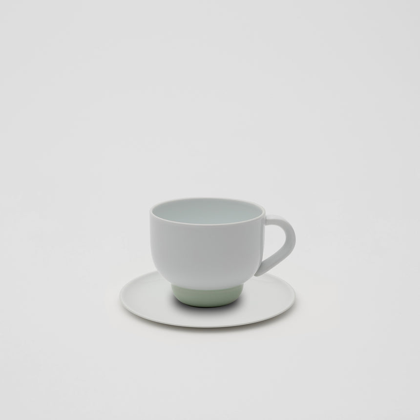 Mug in Celadon and White by Pauline Deltour
