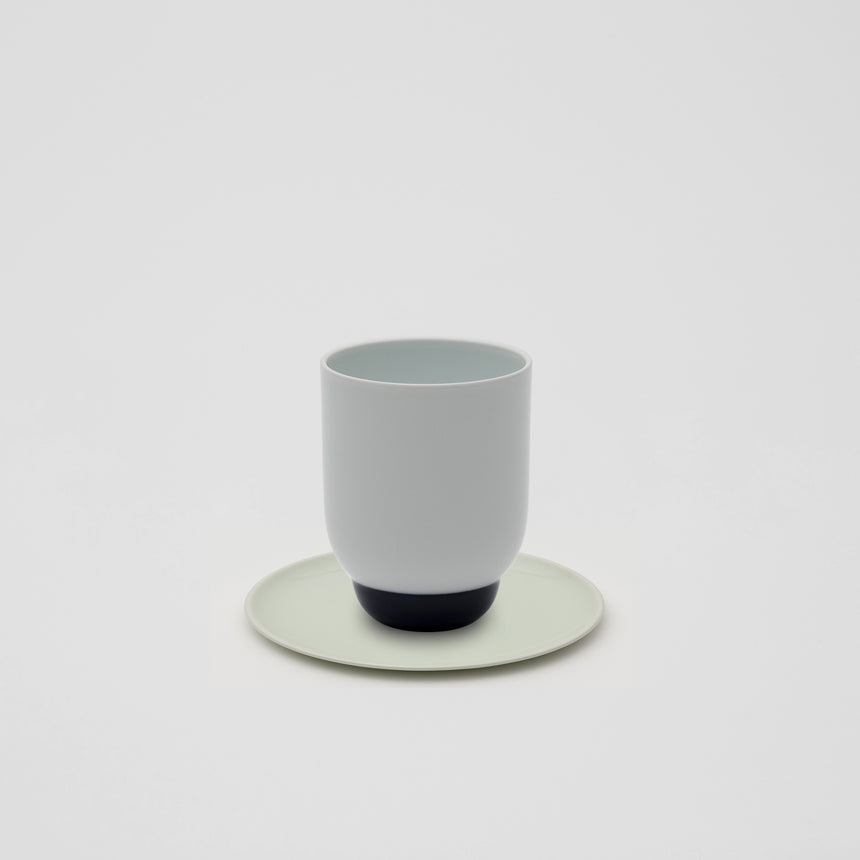 Tall Cup in White and Blue by Pauline Deltour