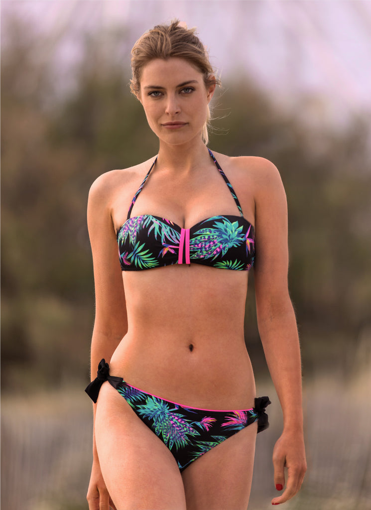 BANDEAU PUSH TROPICAL LAND - ROSE FLUO