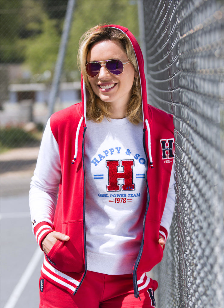 TEE-SHIRT COTON BLANC - ROUGE - Happy & So