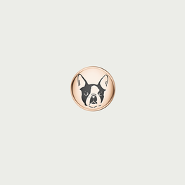 Charm BULLDOG - Rose Gold