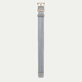 Strap VANESSA (Silver) - Rose Gold buckle