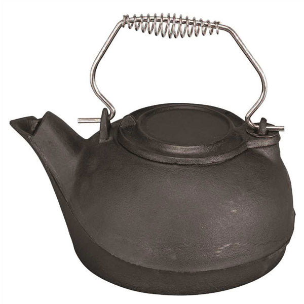 Cast- Iron Kettle Steamer, Black
