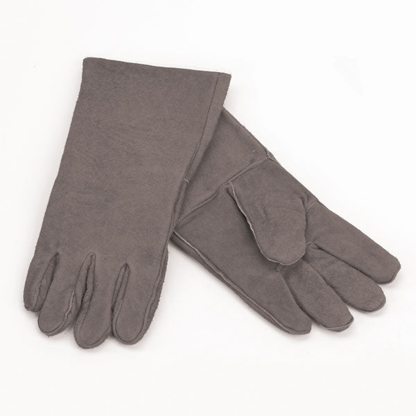 Woodfield Leather Fireplace Gloves, Gray