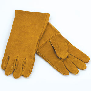 Woodfield Brown Leather Fireplace Gloves