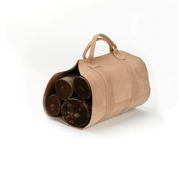 Rugged Cowhide Log Carrier