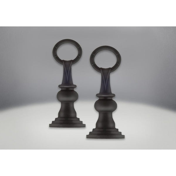 Park Avenue Andirons Painted Black Finish - Traditional
