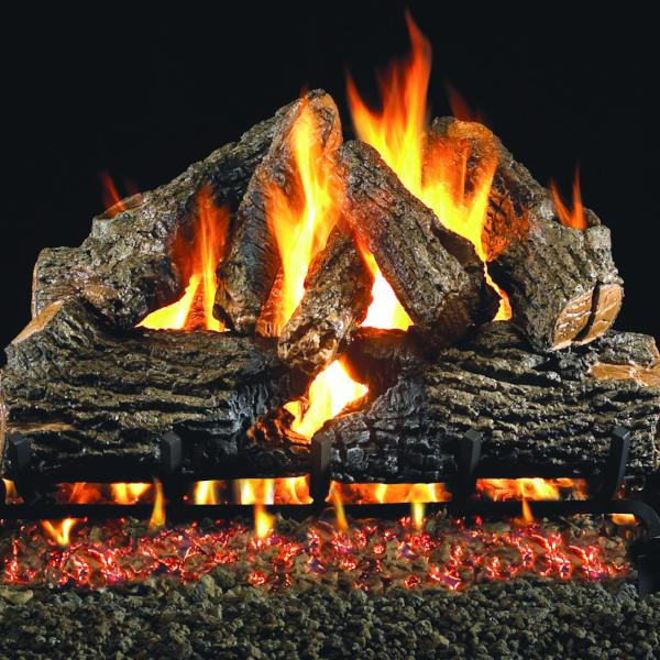 Ventis Gas Log Set- Burnt Mountain Oak Series-Vented-Ventis-Hearth Stove & Patio