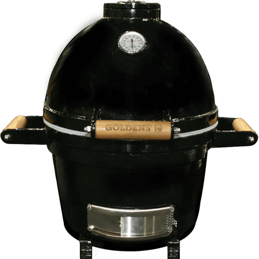 "Goldens' Cast Iron Kamado 14"" Mini Cooker"