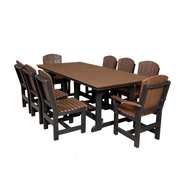 Wildridge Furniture Poly Lumber Furniture Table With 8 Dining Chairs