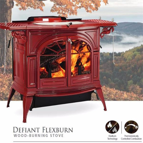Vermont Castings Defiant Flexburn-Cast Iron Stoves-Vermont Castings-Hearth Stove & Patio