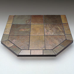 "Slate Stove Board 48"" x 48"" Double Cut"