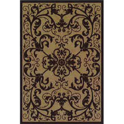 Orian Flame Resistant Rug (Scroll Mink)