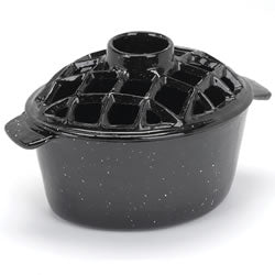 Black Porcelain Steamer