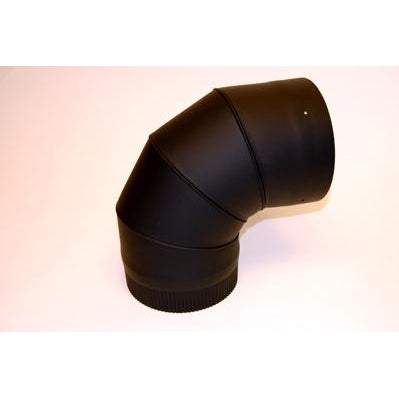 Ventis Single Wall Black Adjustable Elbows