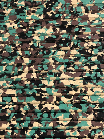 "EVA Foam Sheet Traction Mat Army Camo 40X81"" Cut Grooved With PSA (Adhesive)"